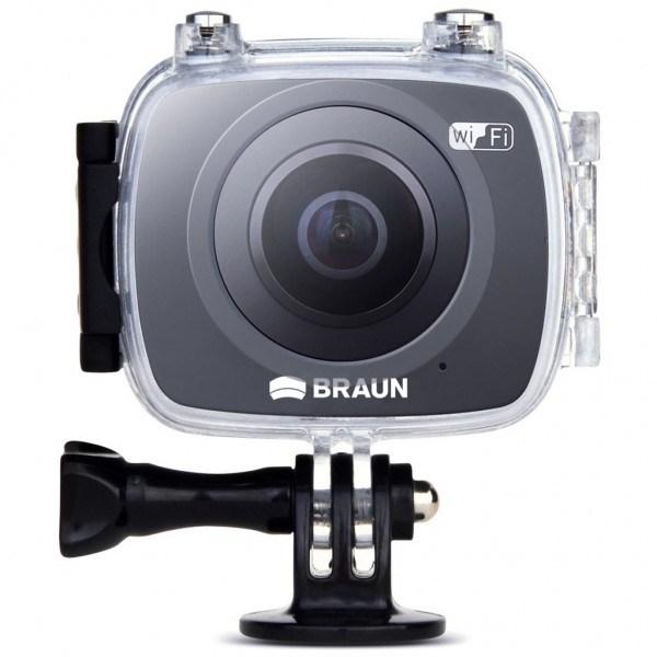 Braun panoramatická videokamera Champion 360, WiFi, s vodotěsným pouzdrem