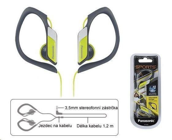 Panasonic stereo sluchátka RP-HS34E-Y, 3,5 mm jack, žlutá