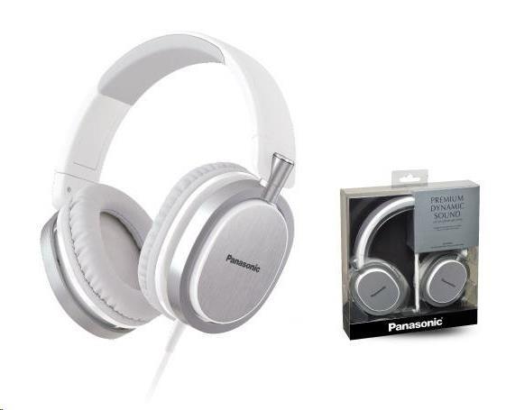 Panasonic stereo sluchátka RP-HX550E-W, 3,5 mm jack, bílá