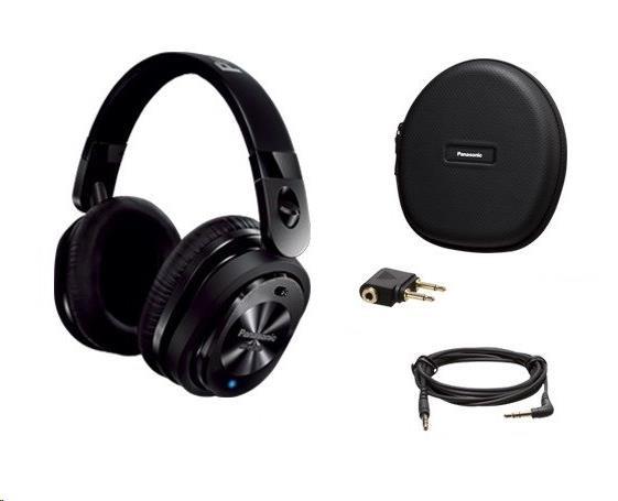 Panasonic stereo sluchátka RP-HC800E-K, 3,5 mm jack, černá