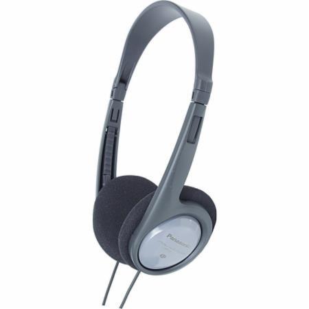 Panasonic stereo sluchátka RP-HT030E-H, 3,5 mm jack, šedá