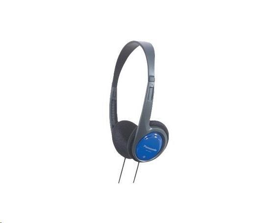 Panasonic stereo sluchátka RP-HT010E-A, 3,5 mm jack, modrá