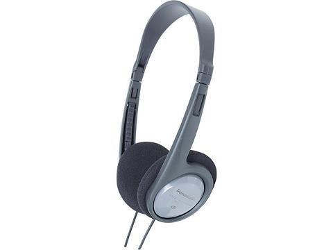 Panasonic stereo sluchátka RP-HT010E-H, 3,5 mm jack, šedá
