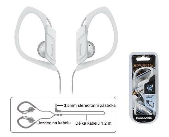 Panasonic stereo sluchátka RP-HS34E-W, 3,5 mm jack, bílá
