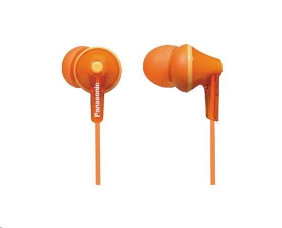 Panasonic stereo sluchátka RP-HJE125E-D, 3,5 mm jack, oranžová
