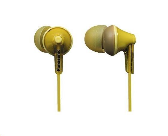 Panasonic stereo sluchátka RP-HJE125E-Y, 3,5 mm jack, žlutá