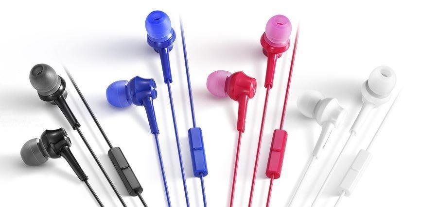 Panasonic stereo sluchátka RP-TCM105E-P, 3,5 mm jack, růžová
