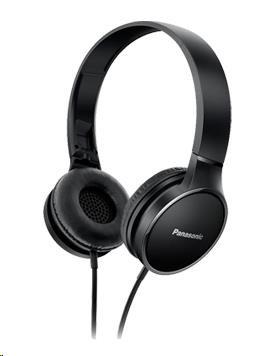 Panasonic stereo sluchátka RP-HF300E-K, 3,5 mm jack, černá
