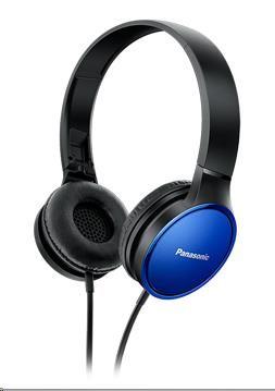 Panasonic stereo sluchátka RP-HF300E-A, 3,5 mm jack, modrá