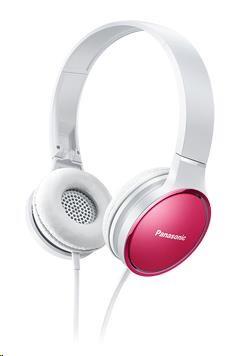 Panasonic stereo sluchátka RP-HF300E-P, 3,5 mm jack, růžová
