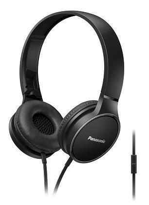 Panasonic stereo sluchátka RP-HF300ME-K, 3,5 mm jack, černá