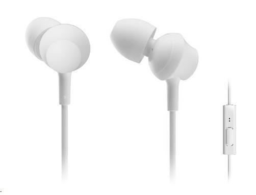 Panasonic stereo sluchátka RP-TCM360E-W, 3,5 mm jack, bílá