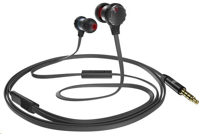 CoolerMaster MASTERPULSE In-ear BASS FX herní sluchátka do uší s mikrofonem, černá