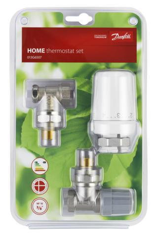 """Danfoss termostatická hlavice RTW-RA+ RA-FN 15, 013G6507, rohové připojení radiátoru, závit G1/2"""""""