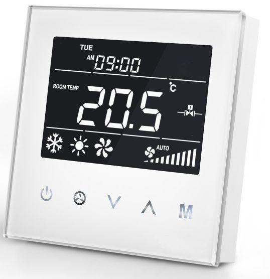 MCO Fan Coil termostat pro dvoutrubkové vent. jednotky, bílá