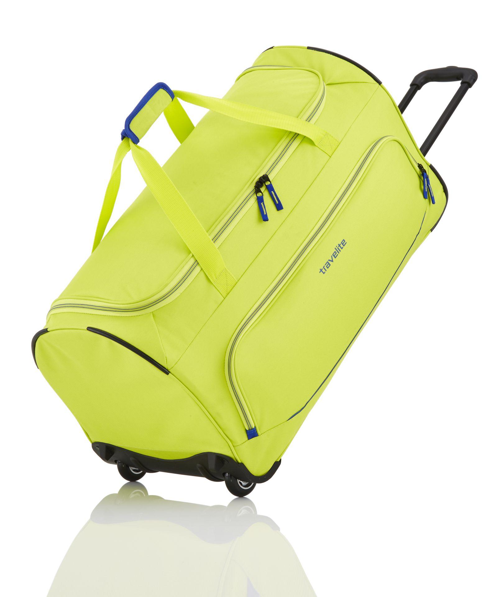 Travelite Basics Fresh Wheeled Duffle Lemon