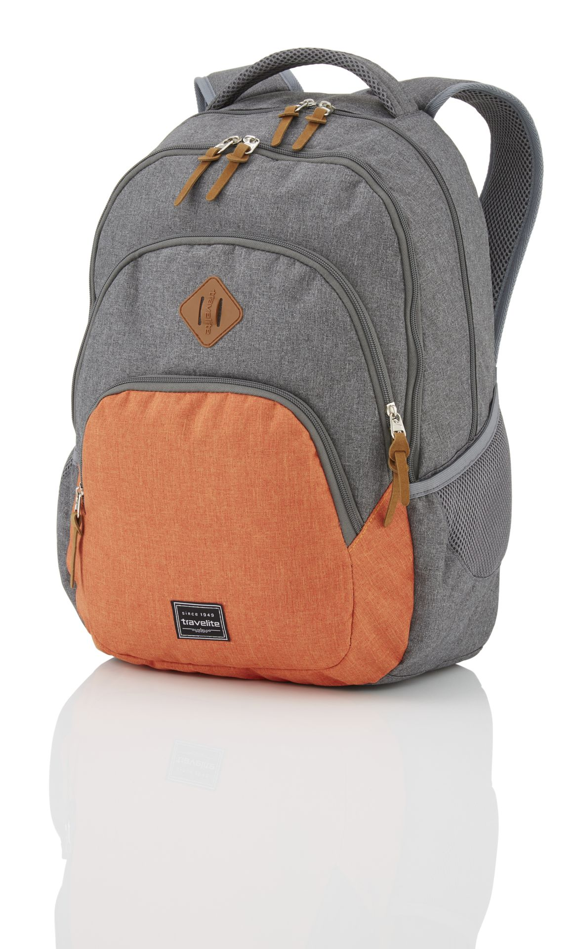 Travelite Basics Backpack Melange Grey/orange