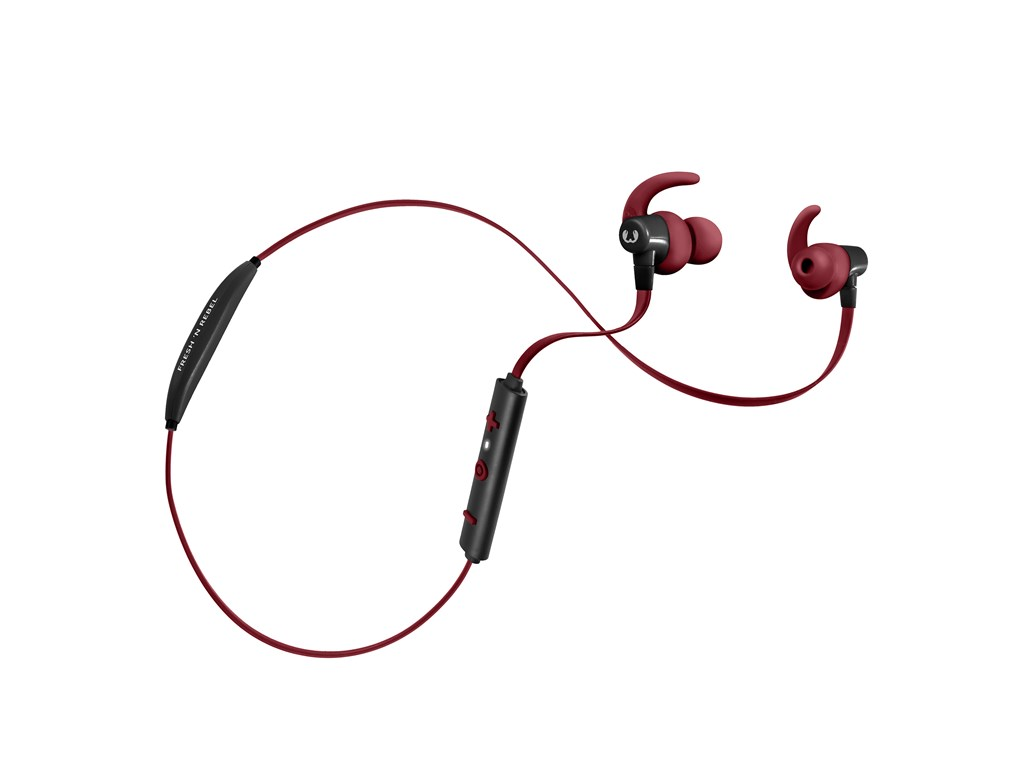FRESH ´N REBEL Lace Sports Earbuds Bluetooth sluchátka, Ruby, rubínově červená