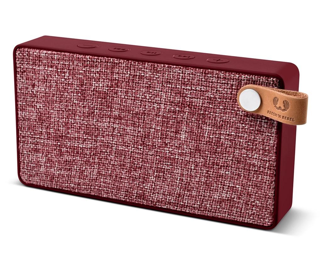 FRESH ´N REBEL Rockbox Slice Fabriq Edition Bluetooth reproduktor, Ruby, rubínově červený
