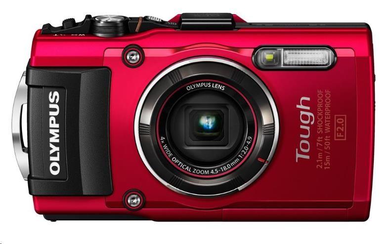 OLYMPUS TG-5 kompakt 12MPix, 4x zoom - červený