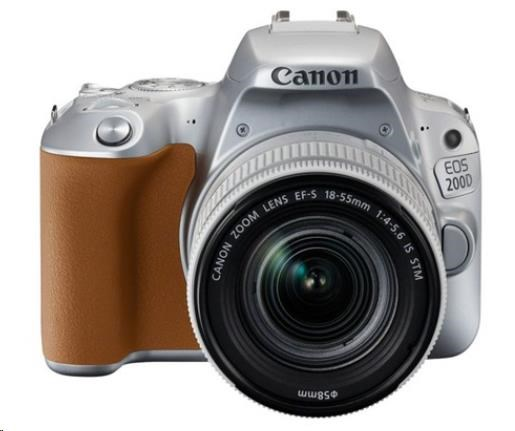 Canon EOS 200D zrcadlovka - tělo (stříbrné) + 18-55 S CP