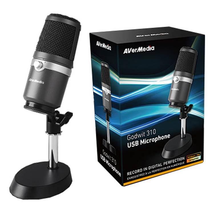 AVERMEDIA profesionální mikrofon Godwit 310 (AM310), USB