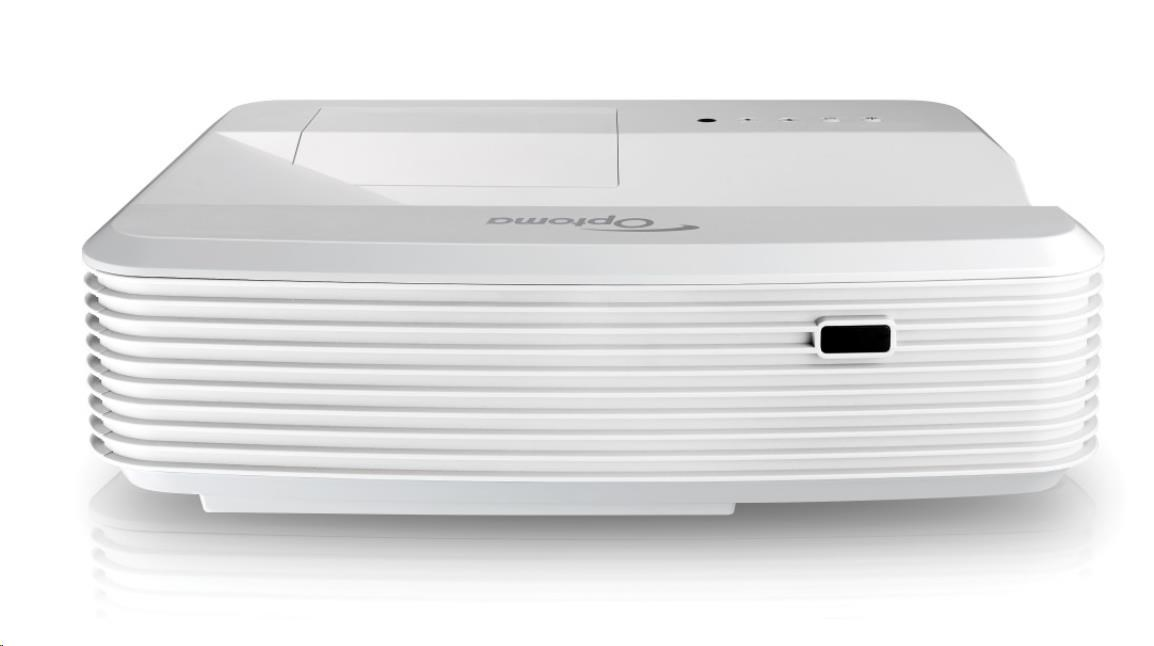 Optoma projektor GT5000+ (Ultra short throw, Full 3D, 1080p (1920 x 1080), 3 200 ANSI, 23 000:1, HDMI, VGA, 16W speaker)
