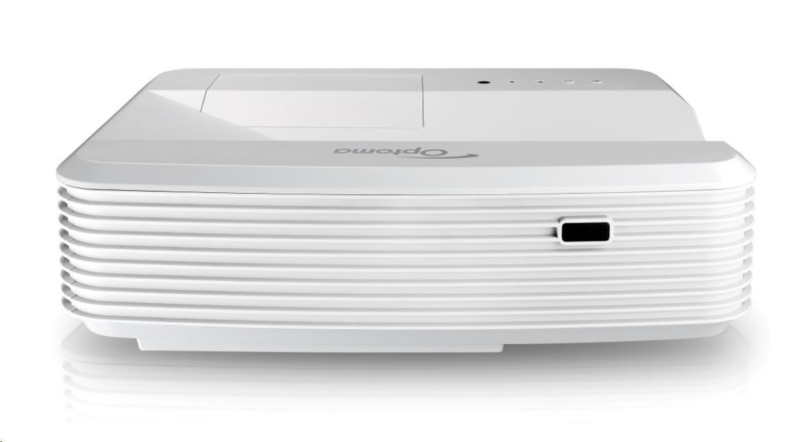 Optoma projektor GT5000+ (Ultra short throw, Full 3D, 1080p (1920 x 1080), 3 200 ANSI, 23 000:1, HDMI, VGA, 16W speaker)