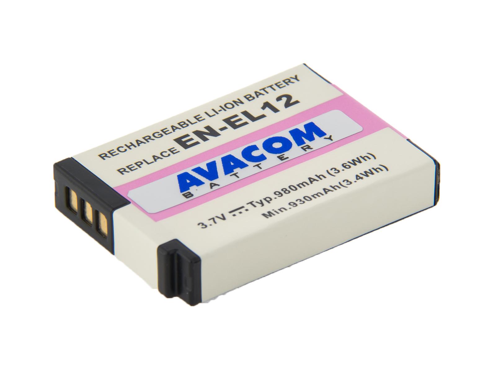 AVACOM Nikon EN-EL12 Li-Ion 3.7V 980mAh 3.6Wh