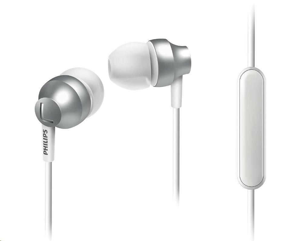 Philips SHE3855SL/00 Sluchátka do uší s mikrofonem, Vy´konné reproduktory přenáší čisty´ zvuk a vy´razné basy