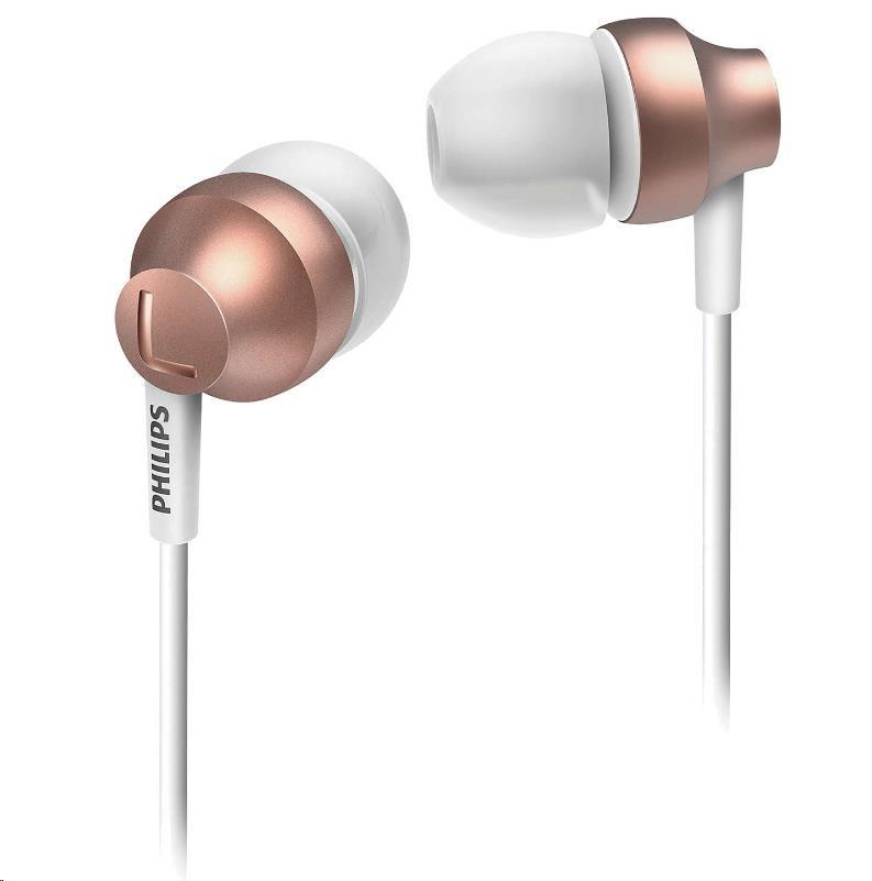 Philips SHE3850RG/00 Sluchátka do uší, Vy´konné reproduktory přenáší čisty´ zvuk a vy´razné basy