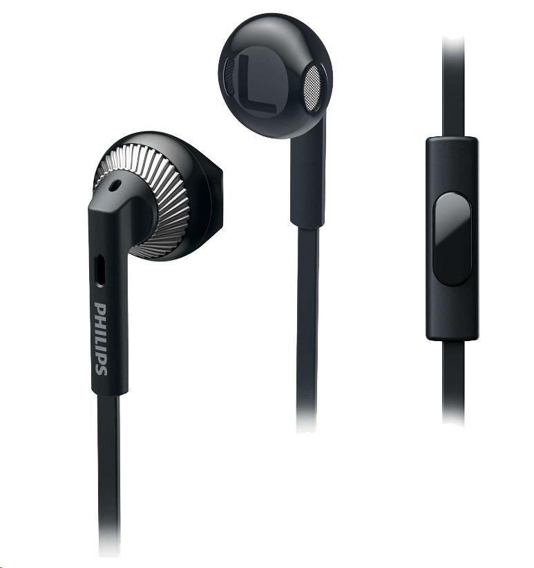 Philips SHE3205BK/00 Sluchátka do uší, 14,2mm reproduktory pro čisty´ zvuk a silné basy