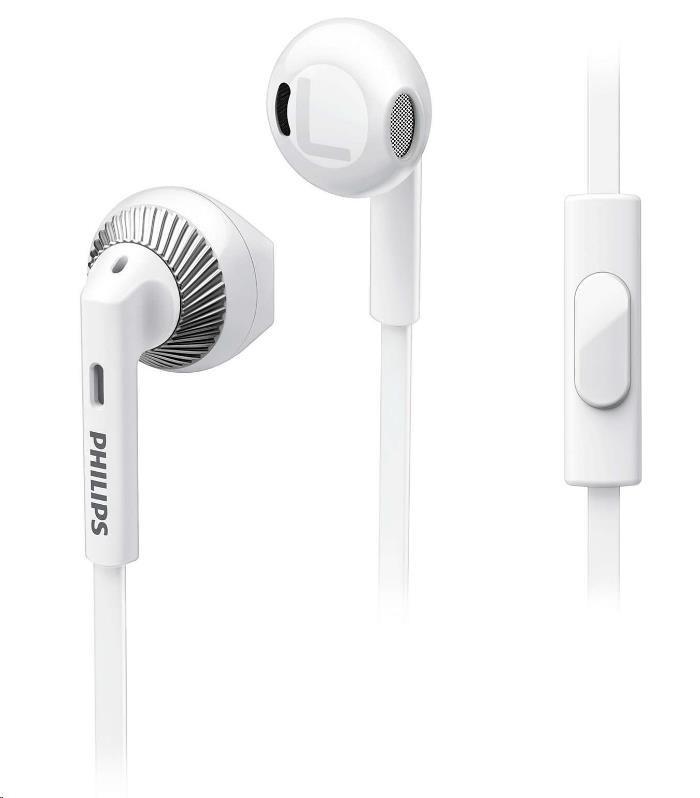 Philips SHE3205WT/00 Sluchátka do uší, 14,2mm reproduktory pro čisty´ zvuk a silné basy
