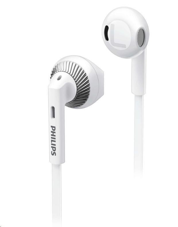 Philips SHE3200WT/00 Sluchátka do uší, 14,2mm reproduktory pro čisty´ zvuk a silné basy