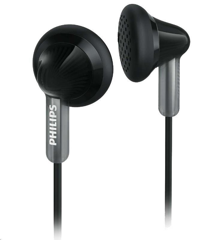 Philips SHE3010BK/00 Sluchátka do uší, 14,8mm reproduktory, Pogumované přední krytky pro pohodlné nošení