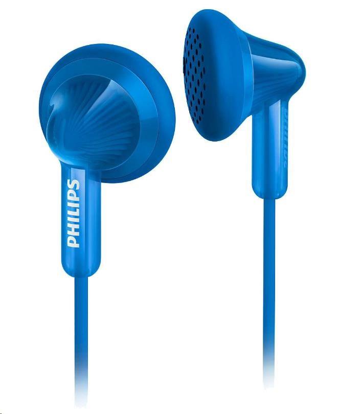 Philips SHE3010BL/00 Sluchátka do uší, 14,8mm reproduktory, Pogumované přední krytky pro pohodlné nošení