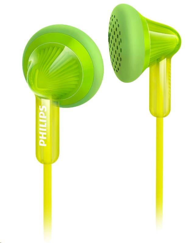 Philips SHE3010GN/00 Sluchátka do uší, 14,8mm reproduktory, Pogumované přední krytky pro pohodlné nošení
