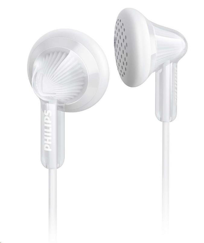 Philips SHE3010WT/00 Sluchátka do uší, 14,8mm reproduktory, Pogumované přední krytky pro pohodlné nošení
