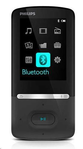 Philips SA5AZU08KF/12 Azure MP4 přehrávač s funkcí FullSound™, Bluetooth, Kapacita interní paměti 8 GB