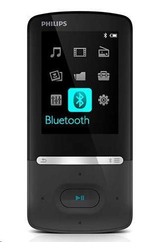 Philips SA5AZU04KF/12 Azure MP4 přehrávač s funkcí FullSound™, Bluetooth, Kapacita interní paměti 4 GB
