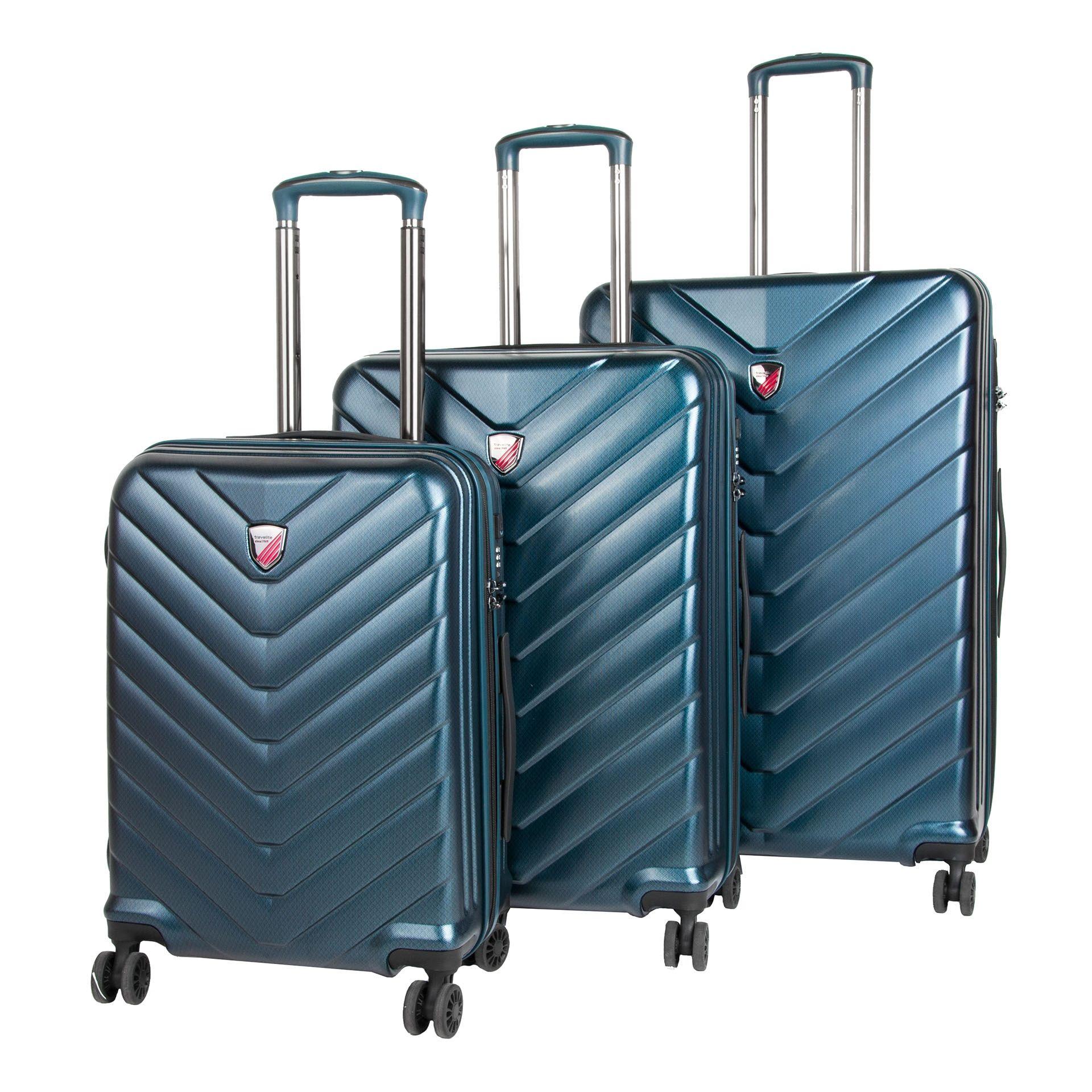 Travelite Dart 4w S,M,L Petrol – sada 3 kufrů