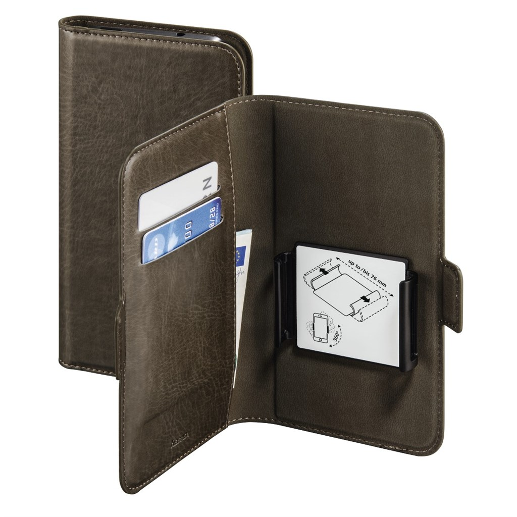 "Hama Smart Move Booklet Case, size L (4.0 - 4.5""), taupe"