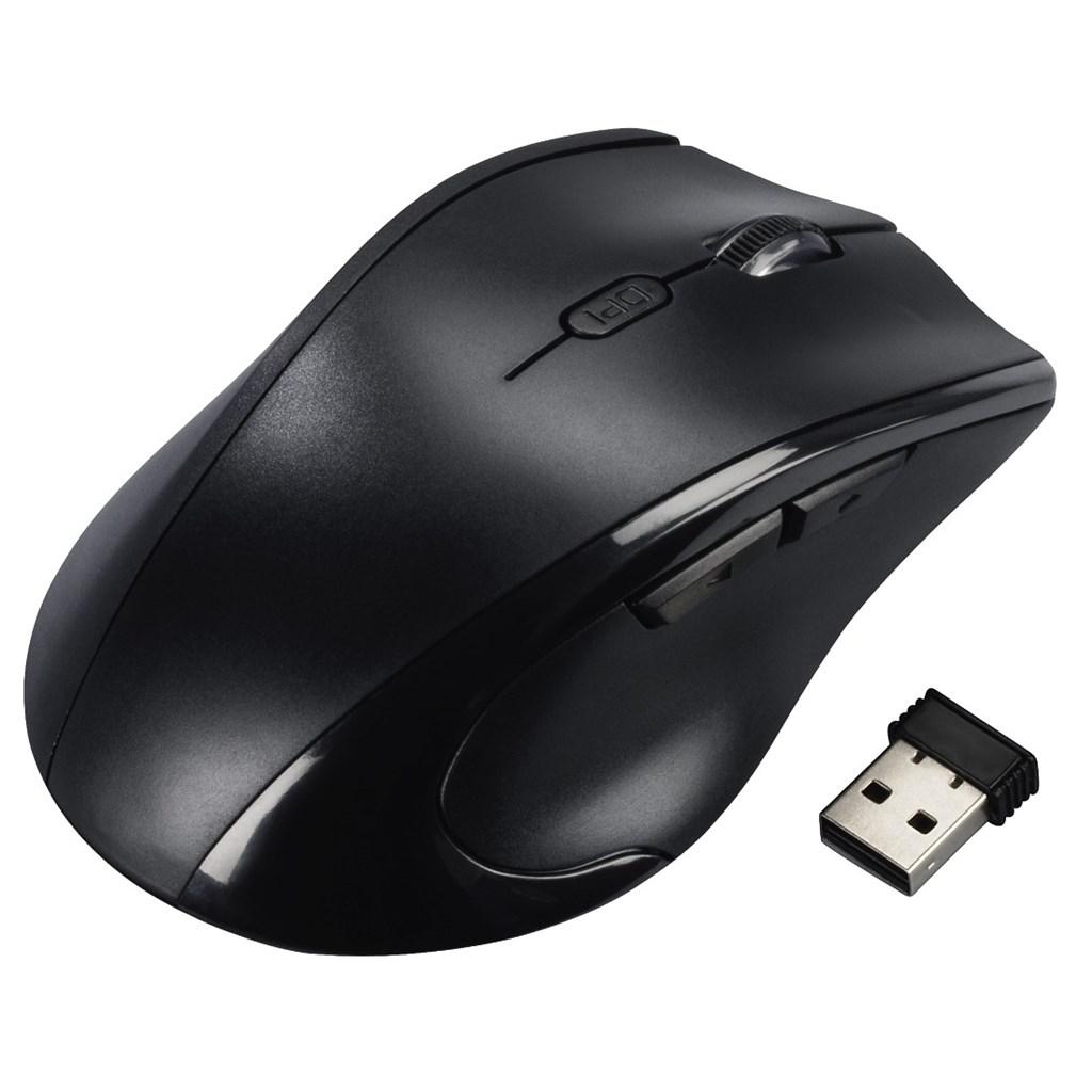 Hama bezdrátová optická myš pro leváky Riano, černá