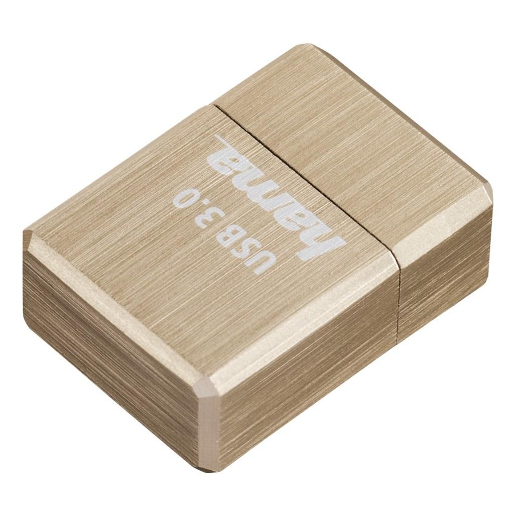Hama FlashPen micro Cube, USB 3.0, 64 GB, 100 MB/s, zlatý