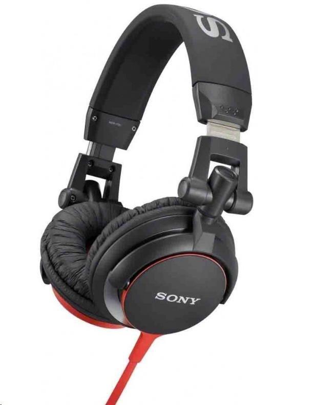 SONY stereo sluchátka MDR-V55, červená