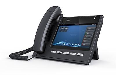 """Fanvil IP telefon C400, 6 SIP, 7"""" dotykový LCD, 10/100/1000 Mbps, napájecí zdroj"""