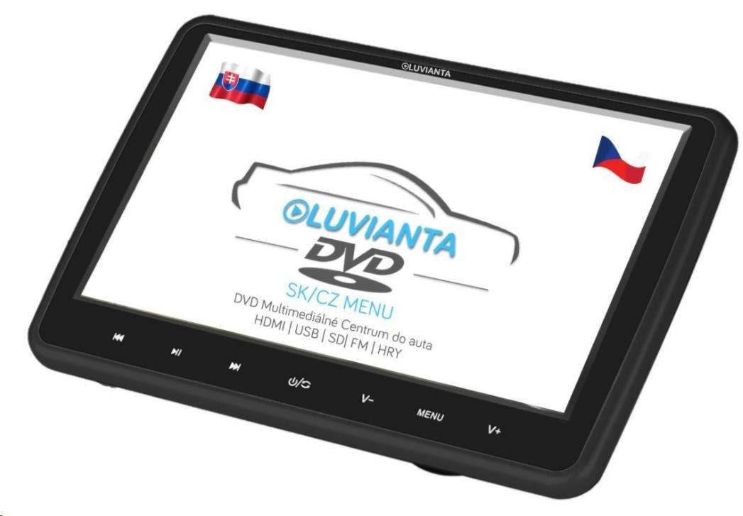 """Luvianta DVD portable, 10,1""""; HD (1280x1024), DVD přehrávač (mp4, avi, divx, mpeg, FLV, mov),SD, USB,HDMI, JACK,ovladač"""