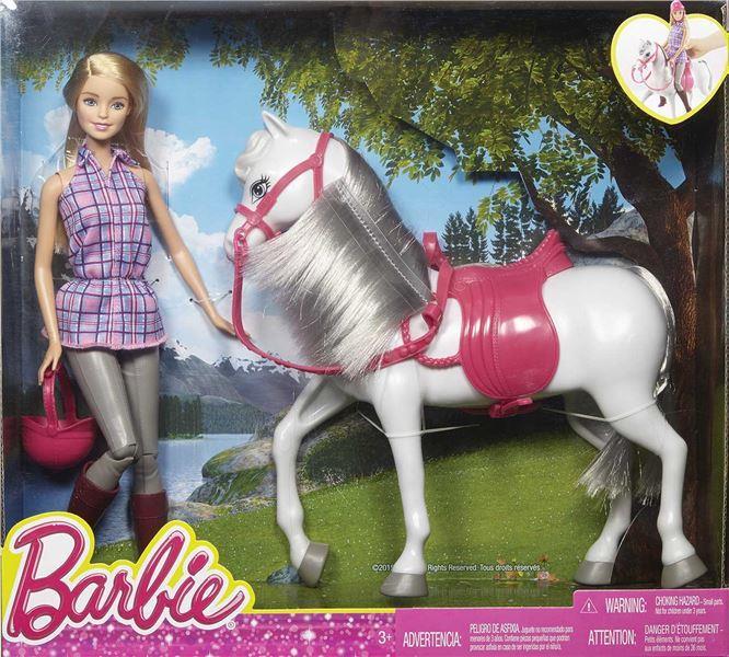 HR Mattel Barbie PANENKA S KOŇEM