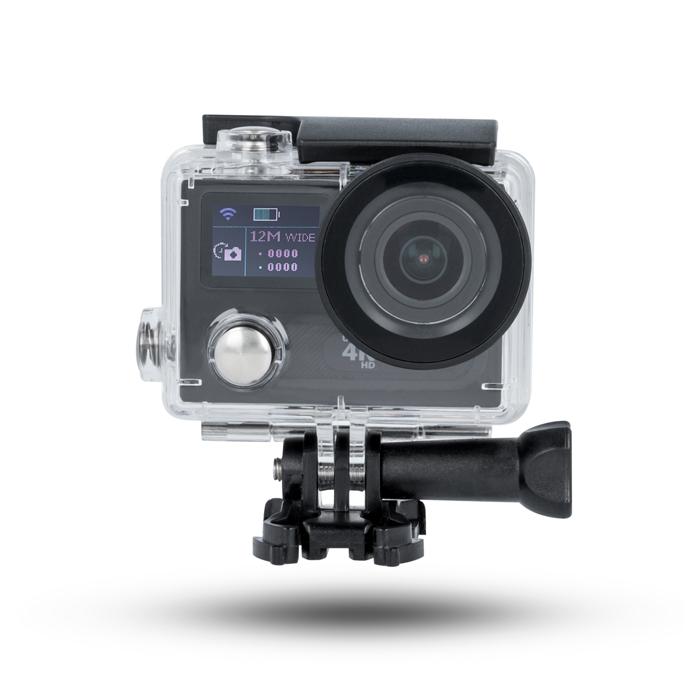 Forever sportovní kamera SC-420, 4K rozlišení, Wifi, ovladač, přední displej