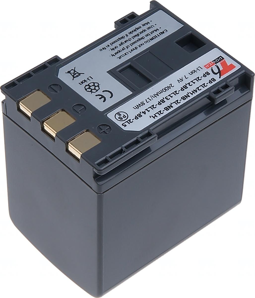 Baterie T6 power Canon BP-2L24H, 2400mAh, šedá